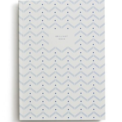 Small notebook brilliant ideas light blue