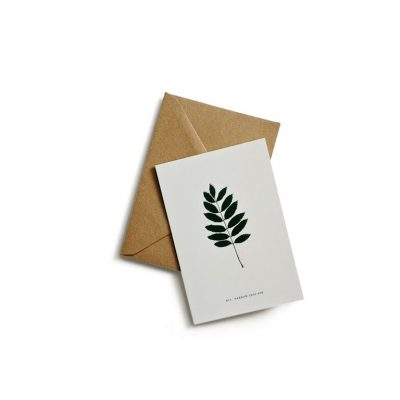 Greeting card ash