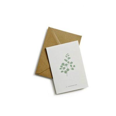 Greeting card fern