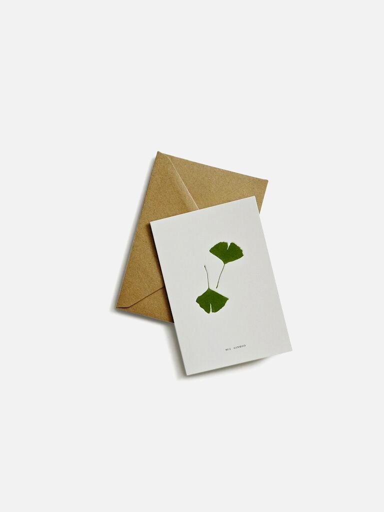 gingko greeting card