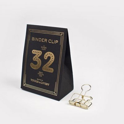 binder clip 32 mm gold