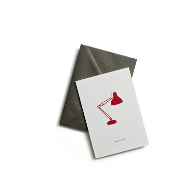greeting card lamp stay curious kartotek