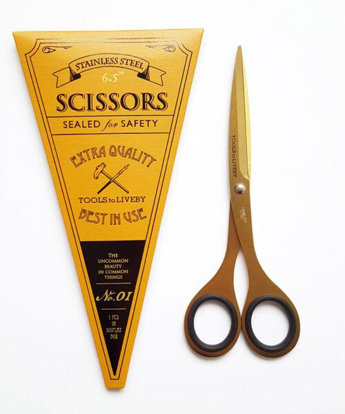 scissors 6.5 gold