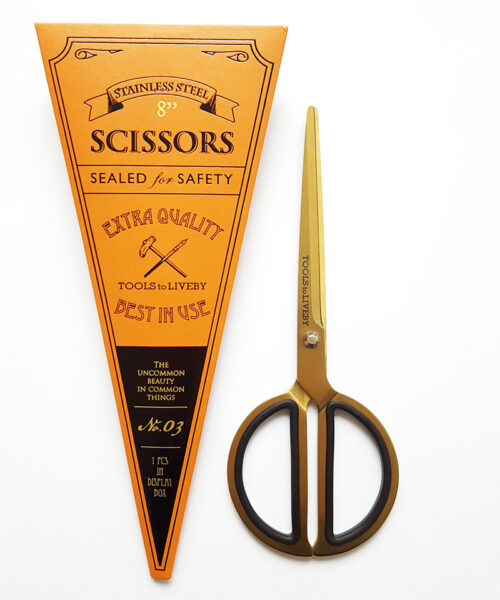scissors circle gold