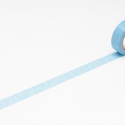 messy cyan masking tape