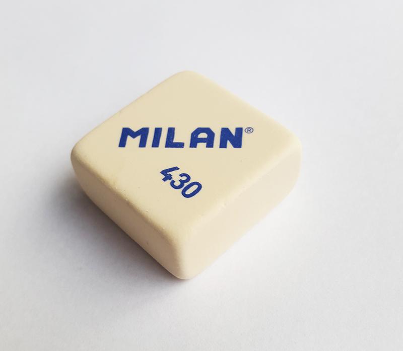 milan eraser 430 white