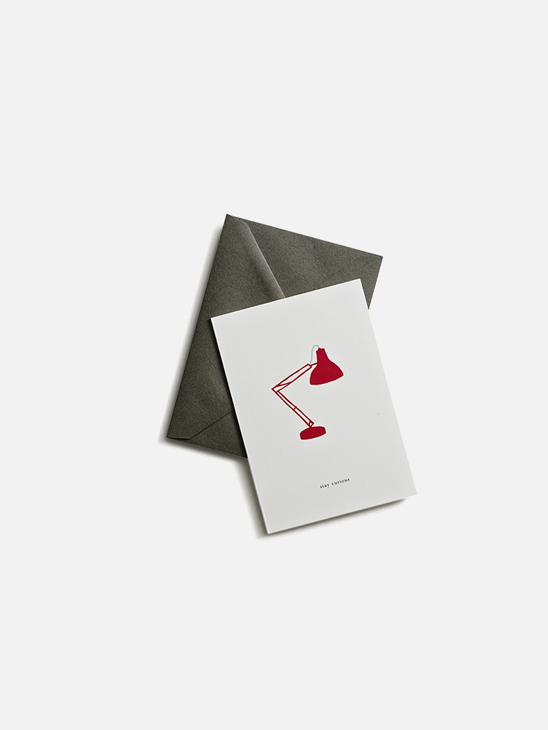 greeting card stay curious