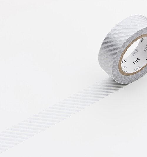 stripe silver masking tape