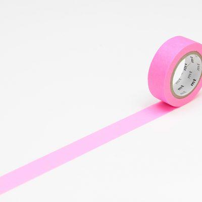 masking tape in neon shocking pink