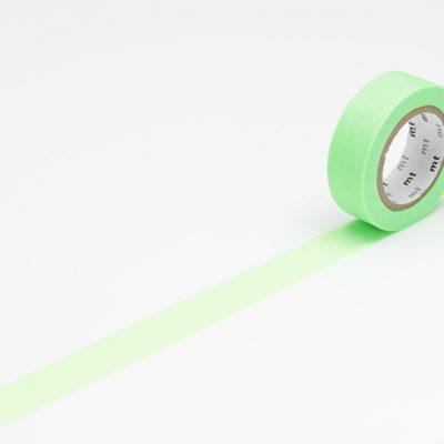 masking tape in shocking green neon