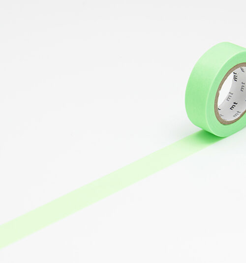 masking tape in shocking green neon