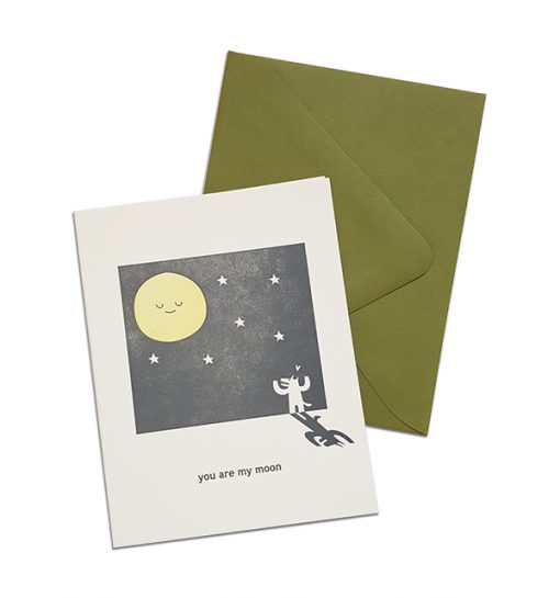 greeting card you are my moon