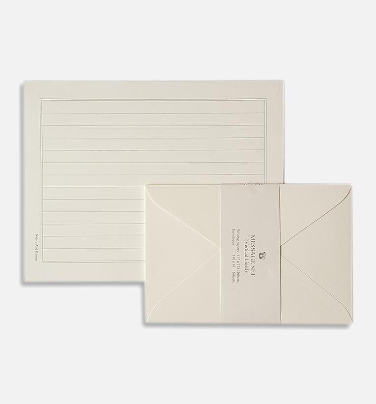 letter set white ruled