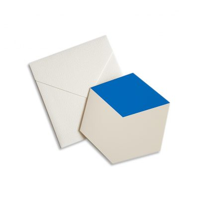 greeting card blue cube