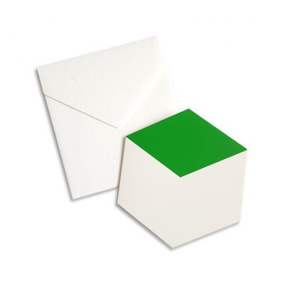 green cube greeting card