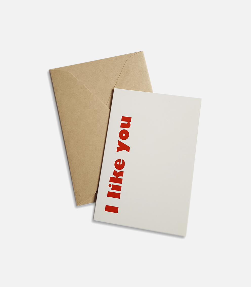 greeting card i like you
