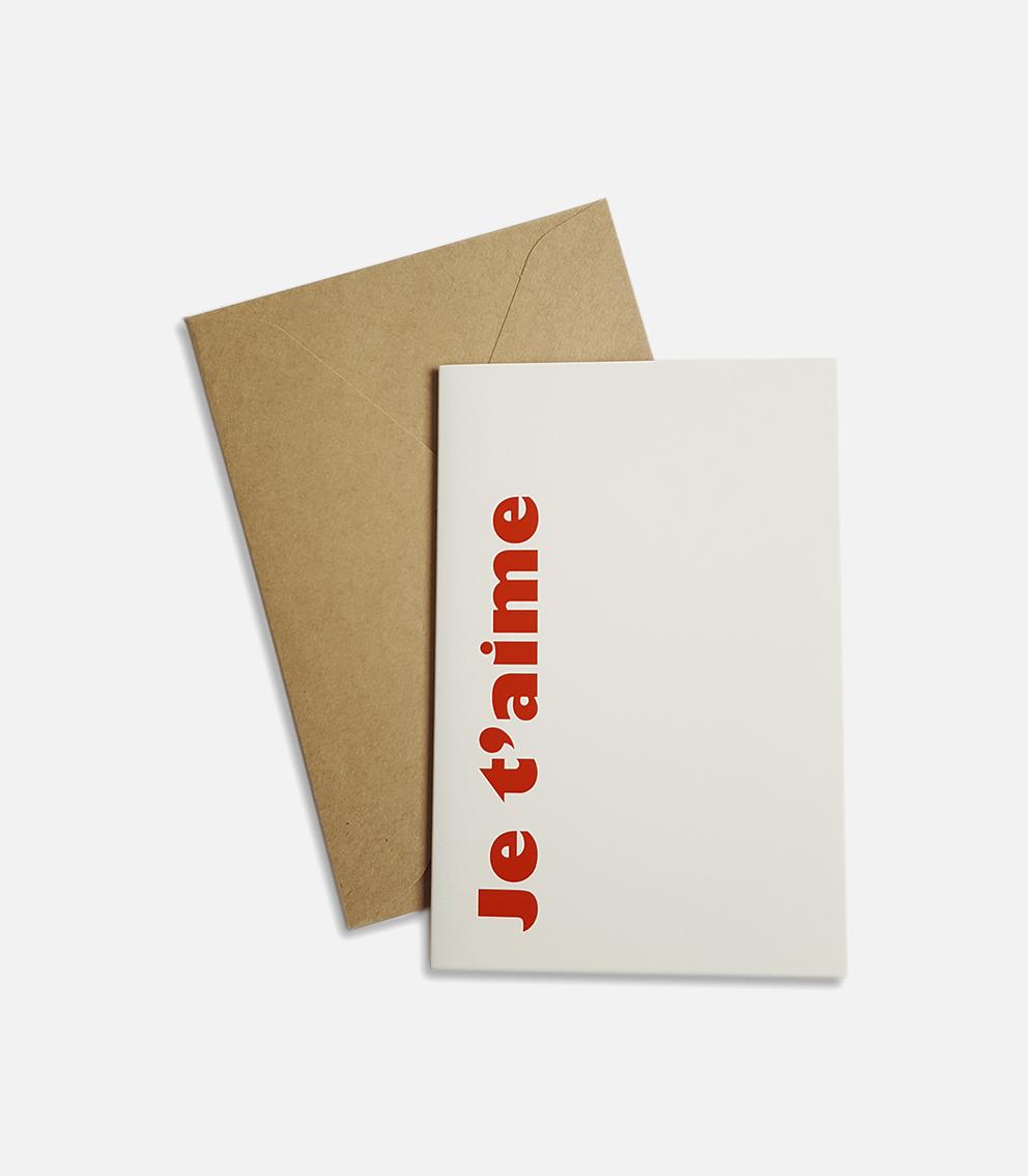 greeting card je táime