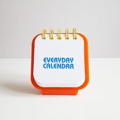 everyday calendar orange