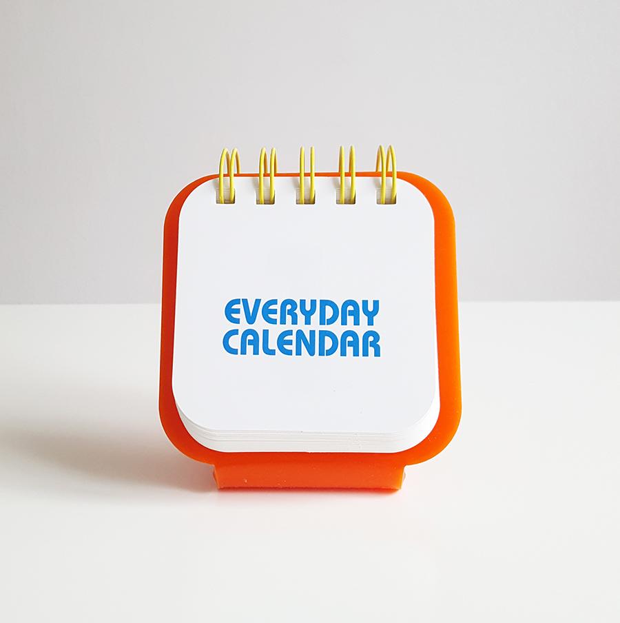everyday calendar orange