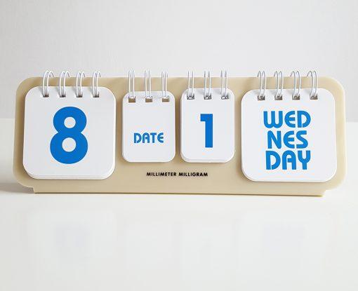 desk calendar ivory
