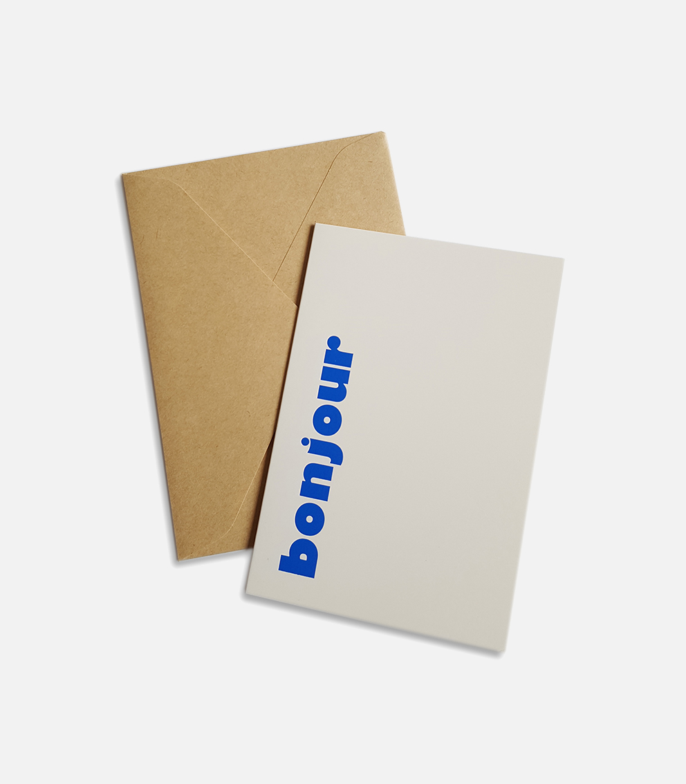 greeting card bonjour