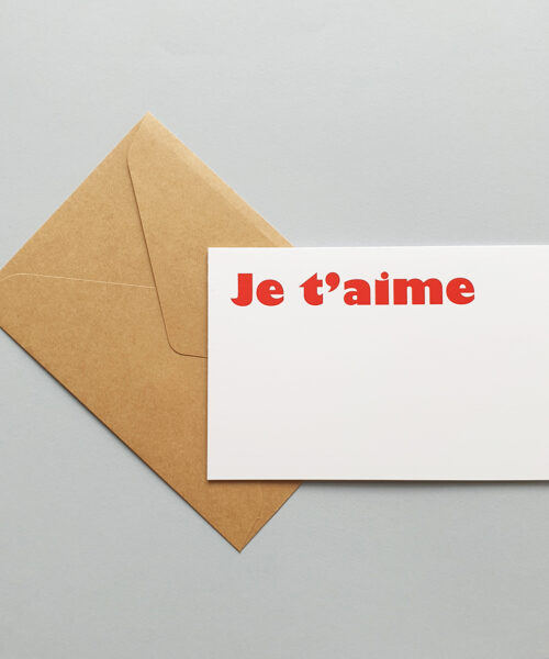 greeting card je t'aime