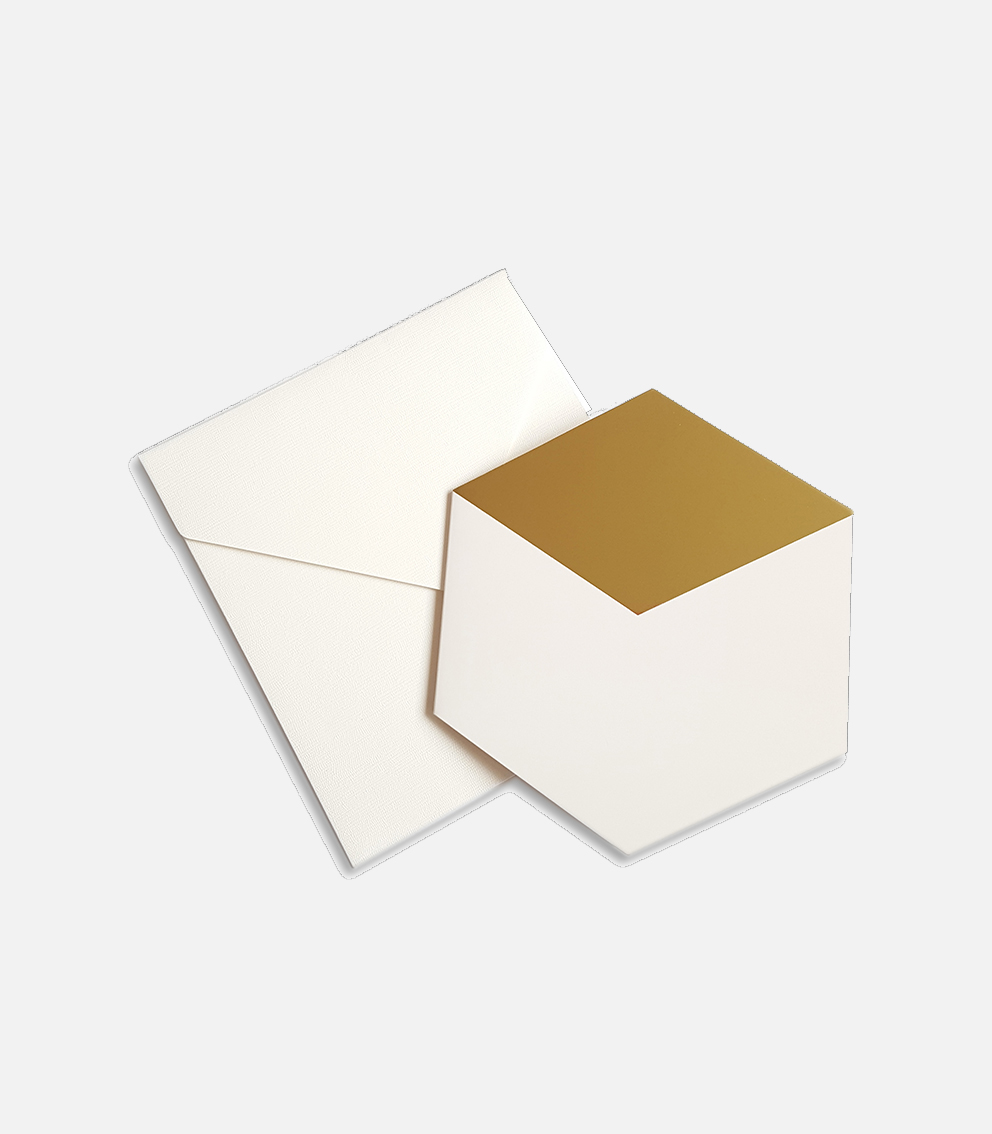 greeting card cube gold