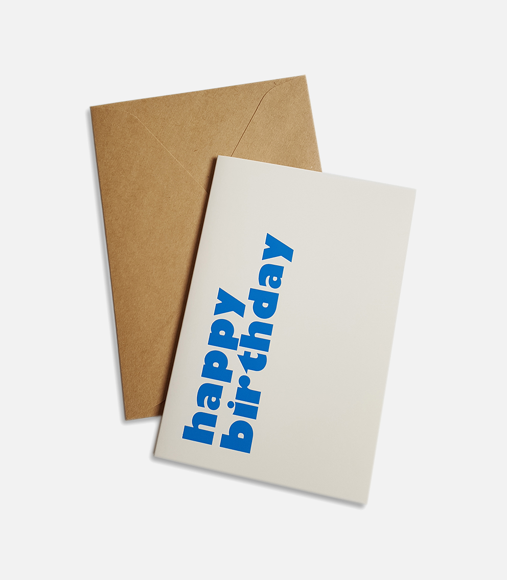 greeting card happy birthday blue