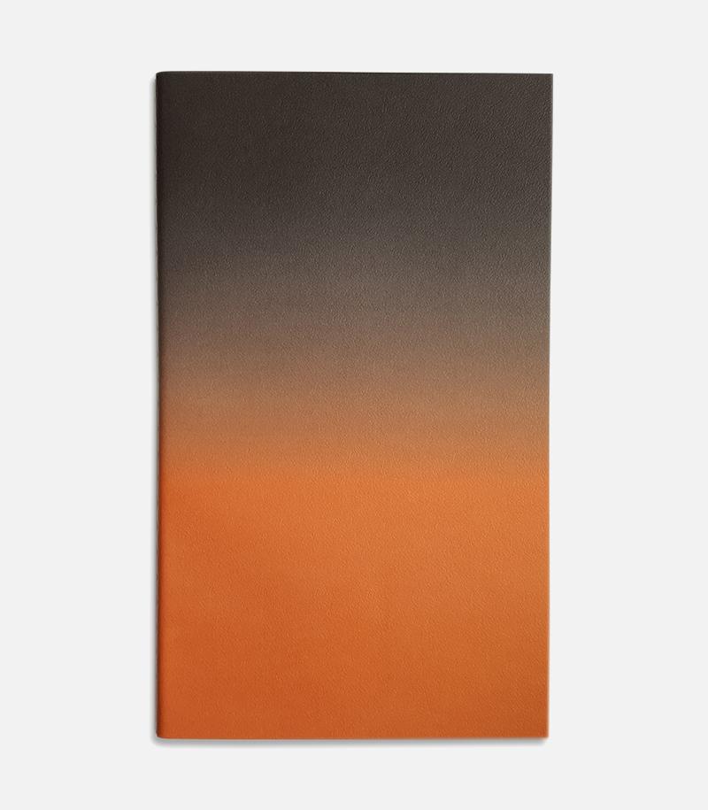 medium horizon notebook grey orange