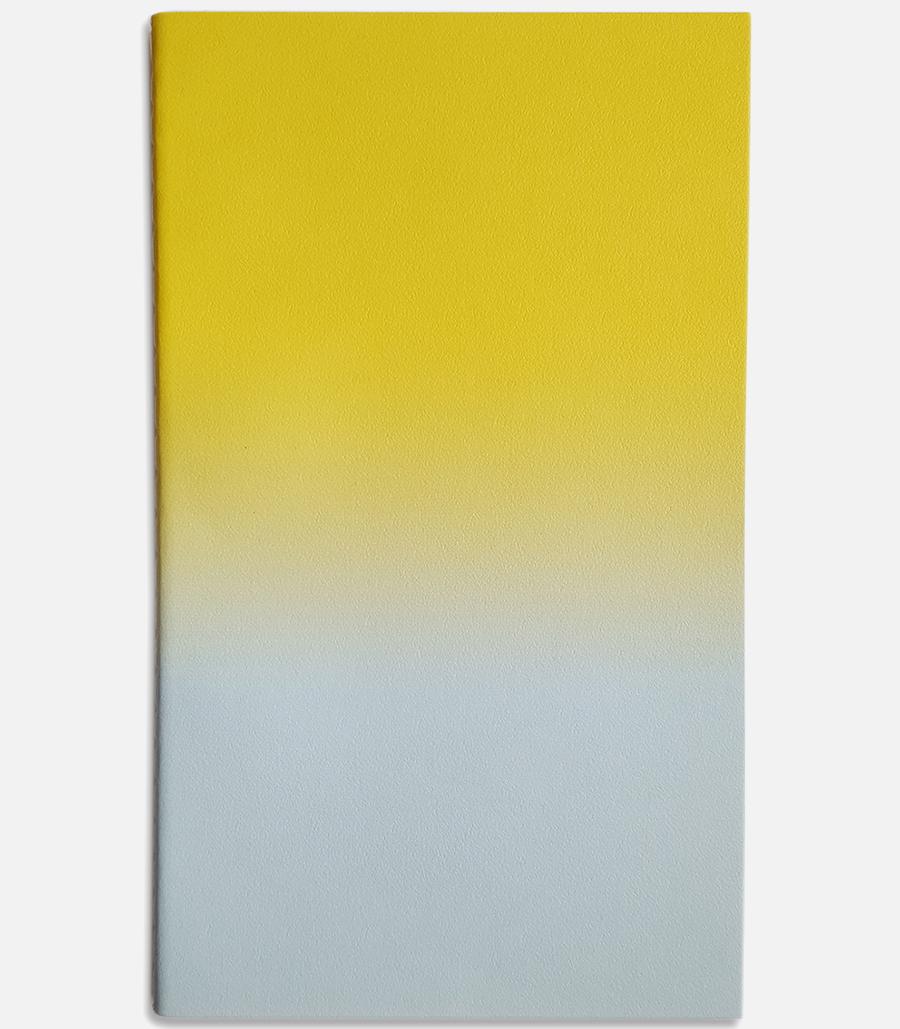 medium horizon notebook yellow mint