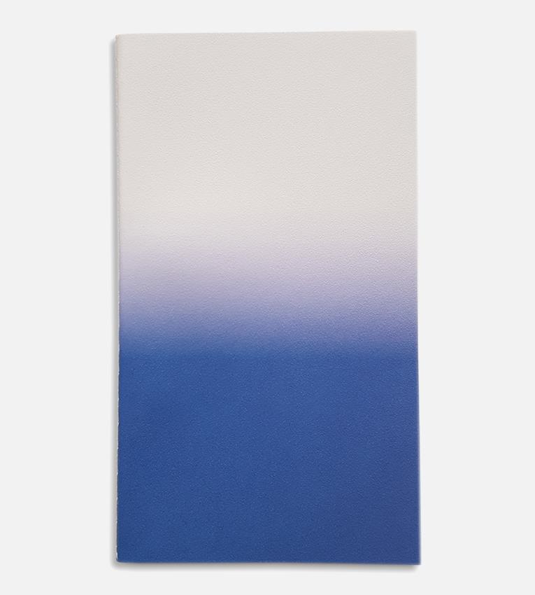 small horizon notebook cream blue