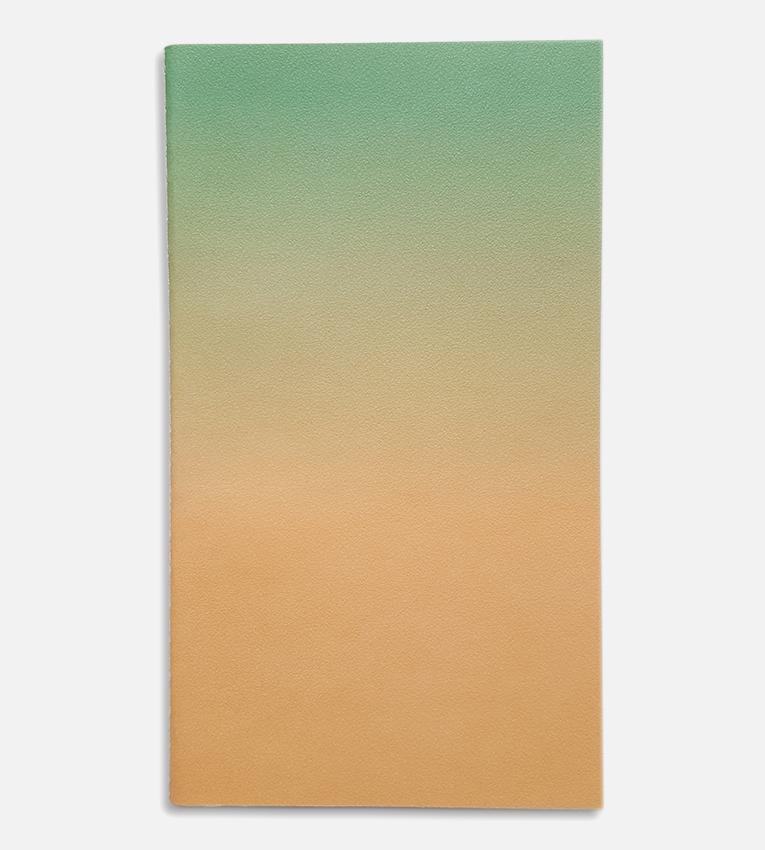 small horizon notebook green peach