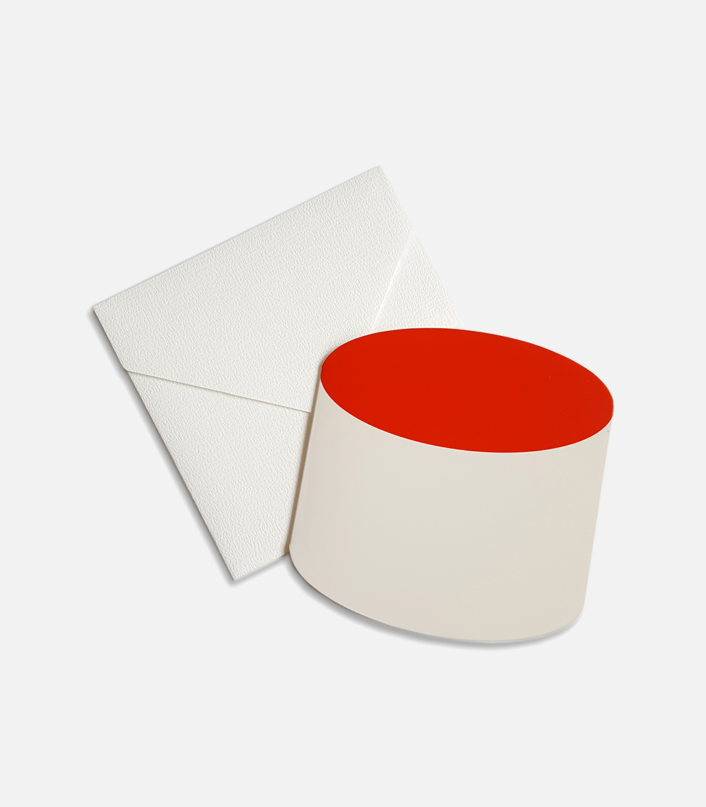 greeting card tube red