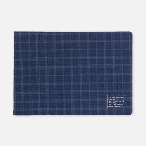 Grid notes horisontal 2 mm blue