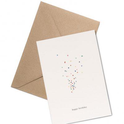 confetti greeting card