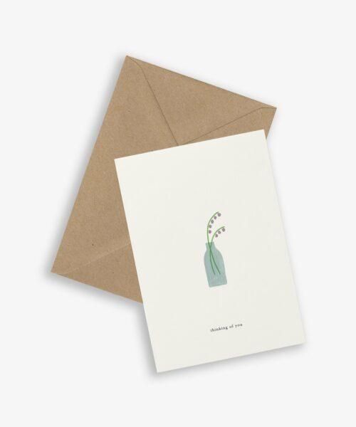 greeting card flower vase