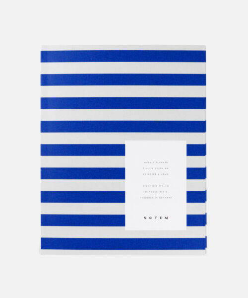 notem uma weekly planner bright blue