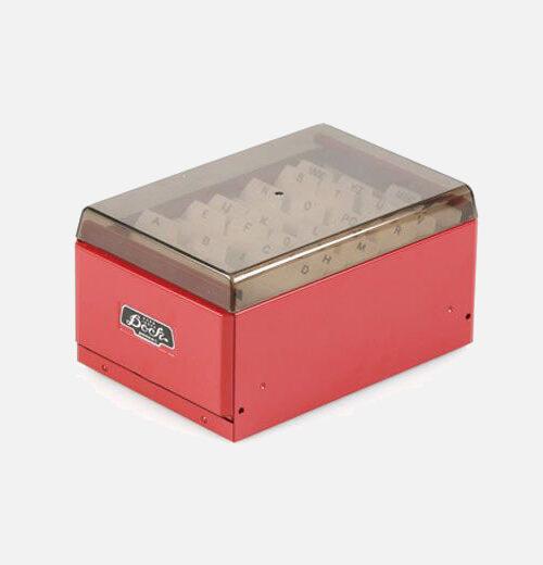 card stocker red