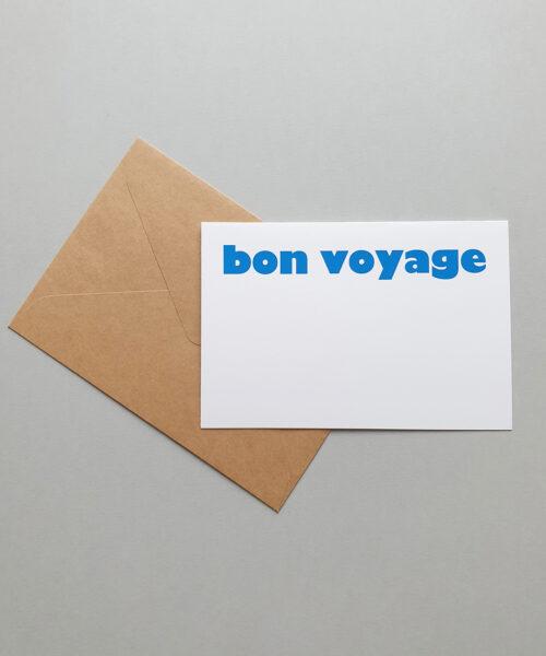 greeting card bon voyage