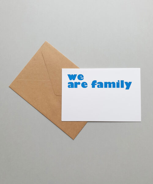 greeting card family first