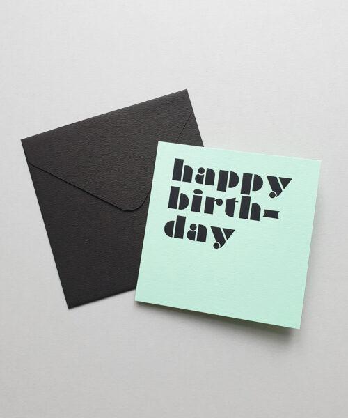 greeting card happy birthday mint