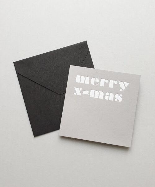 greeting card merry x-mas