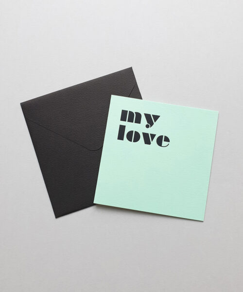 greeting card my love mint