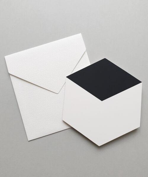 greeting card cube black