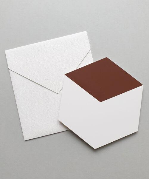 greeting card cube brown