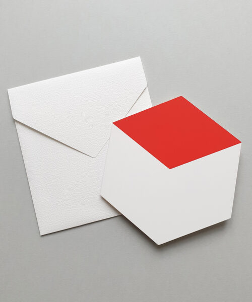 greeting card red cube