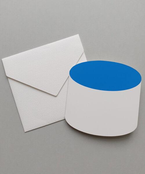 greeting card tube blue