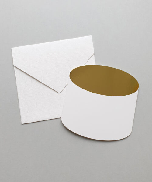 greeting card tube gold