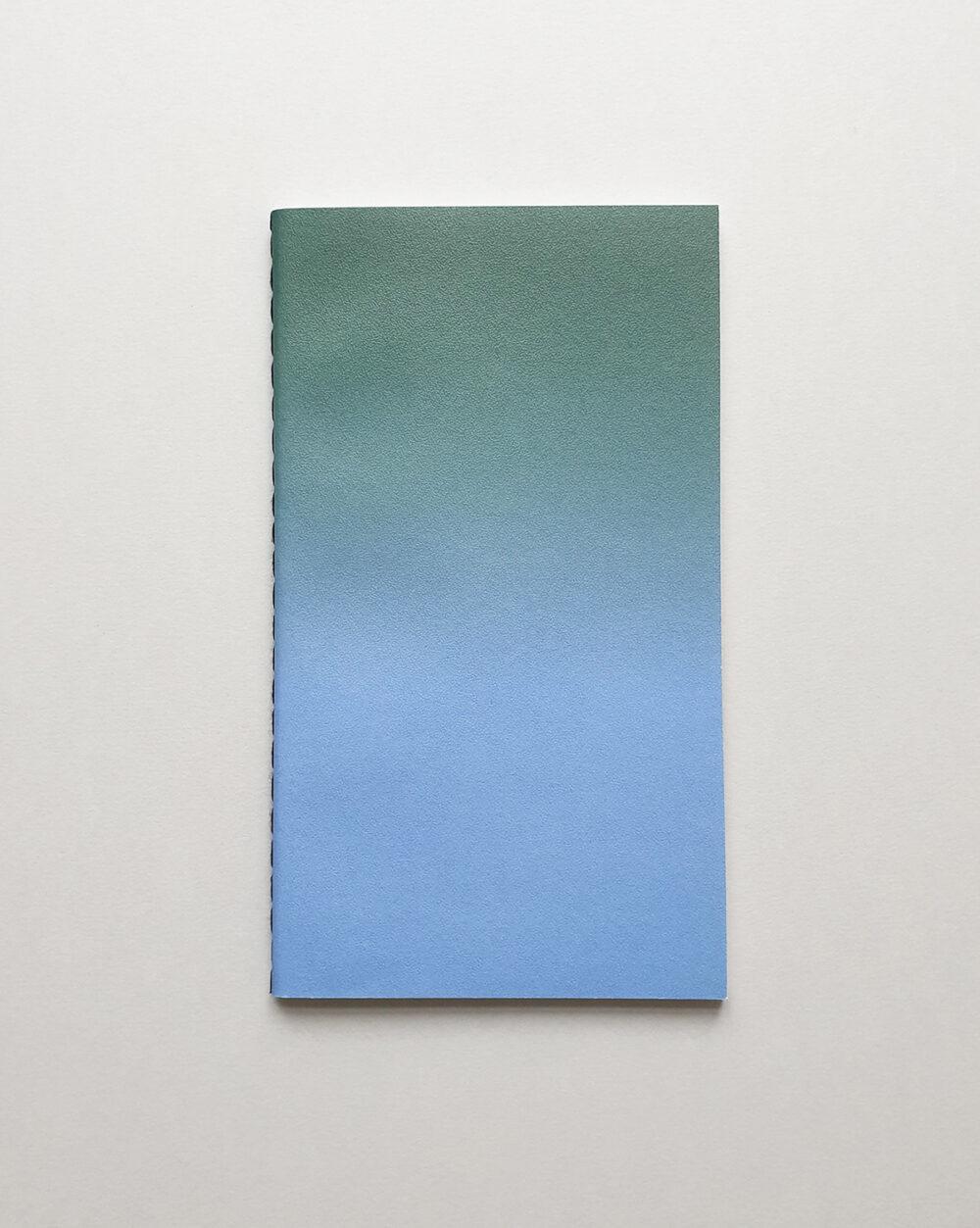 horizon small green blue notebook