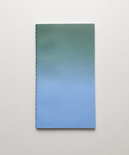horizon small green blue notebook